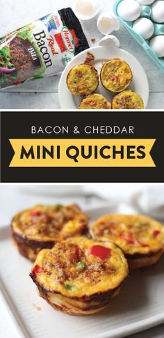 Feed a crowd morning, noon, or night this holiday season with a flavorful recipe you know will be a hit. And what could be better than this dish featuring HORMEL® 100% Real Bacon Bits?! This recipe for Bacon and Cheddar Mini Quiches has Christmas morning, festive brunch, and shareable dinner idea written all over it thanks to the flaky crust, fresh vegetables, gooey cheese, and flavorful bacon! Sponsored by HORMEL® Bacon Toppings.