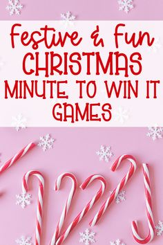 Minute To Win It Games Christmas, Fun Christmas Party Games, Xmas Games, Holiday Games, Fun Games, Christmas Fun, Holiday Fun, Christmas Activities, Family Holiday