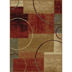 Rhythm 5430 Multi Contemporary Area Rug (7'6 x 9'10) | Overstock.com Shopping - The Best Deals on 7x9 - 10x14 Rugs