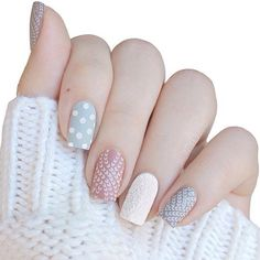 Cozy sweater nails by ❄️😍 Holiday Nail Designs, Nail Designs Spring, Holiday Nails, Pretty Nail Designs, Pretty Nail Art, Nail Art Designs, Nail Design Video, Sweater Nails, Nagel Gel