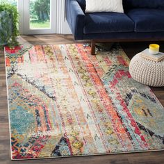 Safavieh Monaco Vintage Bohemian Multicolored Rug (9' x 12') | Overstock.com Shopping - The Best Deals on 7x9 - 10x14 Rugs