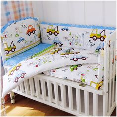 Bright Promotion 5pcs Children Bedding Set Piece Crib Bumper Crib For Baby, 4bumpers+sheet
