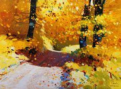 Golden autumn in THeth, 2010, Oil - Pashk Pervathi