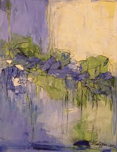 """Inge Philippin -  """"Water Lilies Pond""""  - acrylic on canvas"""
