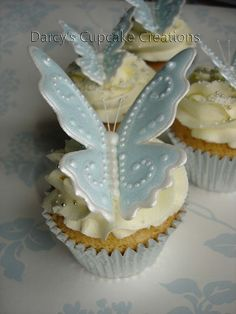 royal icing butterfly blue