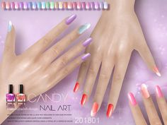 Nails 22 colors, hope you like, thanks!  Found in TSR Category 'Sims 4 Female Rings'