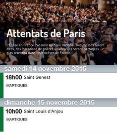 ATTENTATS DE PARIS : L'EGLISE EN FRANCE S'ACCOCIE AU DEUIL NATIONAL