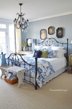 Guest Room-Chinoiserie-Iron Bed-Housepitality Designs