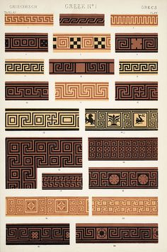 Owen Jones (1809–74). The Grammar of Ornament, 1853. Greek. [Pinned 30-i-2015]