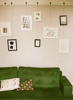 Green Sofa And Hanging Gallery Wall Part 94