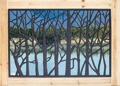"44""W x 29""H Tree Cast Iron Railing Panel at Menards®"
