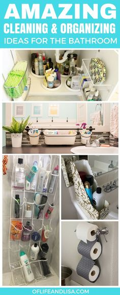 These bathroom cleaning and organizing ideas are so genius. I wish I saw these a LOT sooner. Amazing! Make sure to save and repin for later. #home #cleaning #diy #bathroom #hacks #lifehacks #cleaningtips #cleaninghacks #cleaningtricks #organizing #organize #organisation #bathroomideas #bathroomdecor