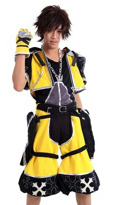 SDWKIT Kingdom Hearts Cosplay Costume - Sora Outfit Yellow Color Set M ** You can find more details by visiting the image link.