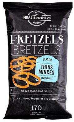 NEAL BROTHERS FOODS.  All Natural and Organic Pretzels. Celebrate National Pretzel Day. PD