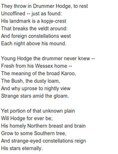 famous poems about drums