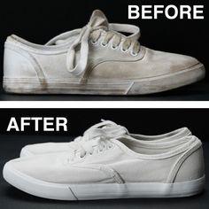 汚れた白い靴を見事に真っ白に戻す裏技DIY術! │ TIPS │ 自分らしいDIYスタイルを追求するウェブMAG │ DIYer(s)