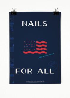 Nails Across America by Clara Mulligan, via Behance