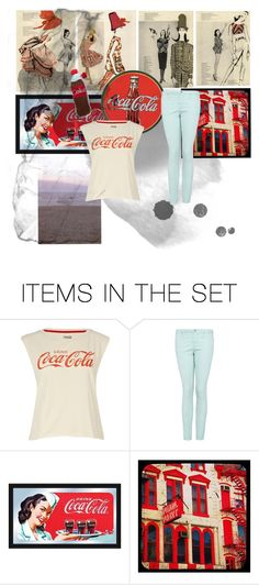 """""""Coca Cola"""" by purple-penguin90 ❤ liked on Polyvore featuring art, retro, 1960s, coca cola and coke"""