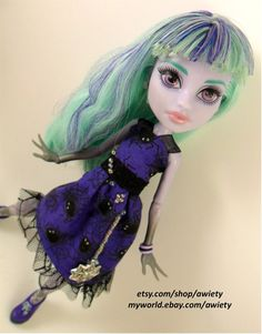 OOAK Monster High Web of Lies Dress Custom Doll Clothes by awiety, $26.00