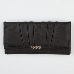 Pleated Faux Leather Wallet | Tillys