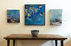 Jenny Vorwaller abstract paintings now on view at Seattle's Plank & Grain in the International District