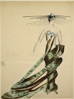 Alexandra Exter, Costume design for 'a Queen of Martians' for Aelita