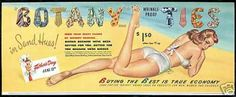 Vintage Botany Ties Ad with Bathing Beauty