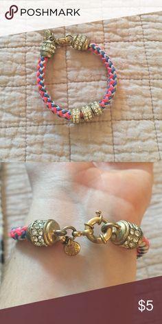 Jcrew Multicolor Braided Bracelet Multicolor braided nylon bracelet with crystal details. J. Crew Jewelry Bracelets