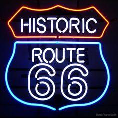 Neon Bar Signs, Custom Neon Signs, Neon Light Signs, Route 66 Sign, Historic Route 66, Room Signs, Neon Lighting, Lighting Design, Vintage Signs