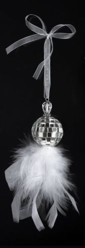 5-Silver-Splendor-Mirrored-Disco-Ball-with-White-Feathers-Christmas-Ornament