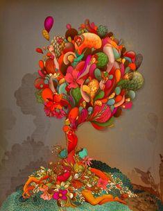 Красочные фэшн иллюстрации Linn Olofsdotter | цвета цвет художник фэшн иллюстрации фантазии сны креатив коллаж искусство иллюстратор дизайнер дизайн автор