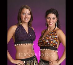 Cotton Tribal Halter w/Mirrors SP306