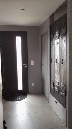 Portes de placard coulissantes style verri re atelier - Recouvrir porte interieure ...