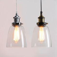 Details about VINTAGE INDUSTRIAL CEILING LAMP CAFE GLASS PENDANT