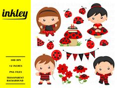 Ready to use ladybug costume illustration and clipart for personal and commercial use.