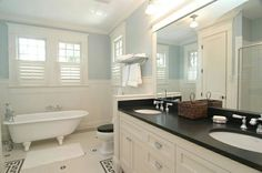 Love this bathroom. Wonder if the redid the tile or if its original