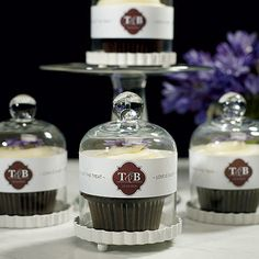 Great idea for updating that average cupcake at the wedding reception or party: The Miniature Bell Jar