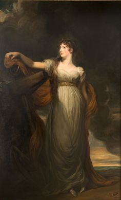 """Sir Thomas Lawrence P.R.A, (1769-1830), English Allegorical Portrait of Louisa, Countess of Sandwich, as """"Hope"""", 18th century"""
