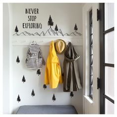 Adventure awaits with these fantastically fun outdoor-themed peel and stick decals from Paper Riot! Whether you love to trek through the mountains, sail the high seas or travel on down the highway, this great adventurous wall decor collection will inspire you to keep dreaming about your next excursion.