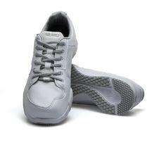 White Leather Kinetic - Men's Fitness Walking Shoes for Plantar Fasciitis