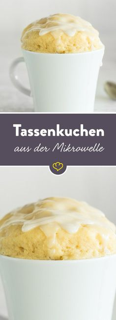 Cupcakes from the microwave: the basic recipe - Tassenkuchen aus der Mikrowelle: Das Grundrezept Fast cake enjoyment for every day! Mix all the ingredients together, bake in the microwave and refine the basic recipe to your heart's content. Quick Dessert Recipes, No Bake Desserts, Baking Recipes, Cake Recipes, Snack Recipes, Quick Cake, Bon Dessert, Fast Easy Meals, Food Inspiration