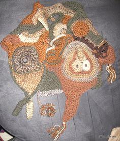 Freestyle crochet scarf