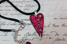 Hot Pink Resin Valentine