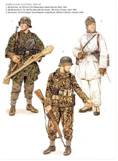 Some nice Osprey color artwork Military Weapons, Military Art, Military History, Ww2 Uniforms, German Uniforms, Military Uniforms, German Soldiers Ww2, German Army, Camouflage