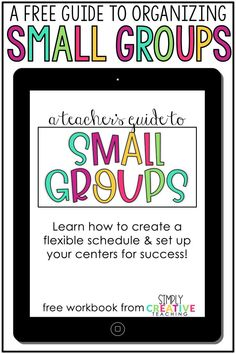 Learn how to create a center rotation schedule for small groups! This free teacher guide for math workshop and guided reading will help teachers create a schedule for literacy stations, Daily Five, M.A.T.H, and more! Use these ideas in your classroom to that every student knows where to go during math centers or ELA centers. This small group organization workbook and center rotation schedule will help kindergarten, 1st grade (first grade), 2nd grade, and all elementary teachers!