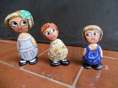 PIEDRAS PINTADAS: DOLLY DINGLE... These are fantastic rock characters!!