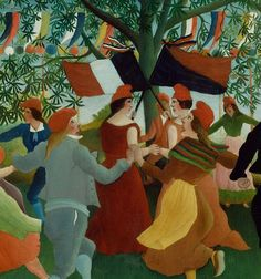 urgetocreate:  Henri Rousseau,  Peasants Dancing the Farandole(detail), 1892