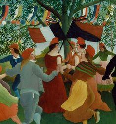 urgetocreate:  Henri Rousseau,  Peasants Dancing the Farandole(detail), 1892