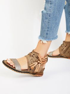 A.S. 98 Petrona Mini Wedge Sandal at Free People Clothing Boutique