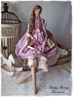 Tilda doll Handmade doll Tilda doll in lavander dress Fabric